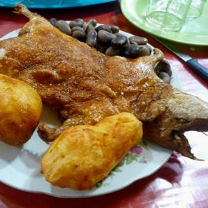 Guinea pig served fried at a restaurant in Arequipa, Peru (copyright Cute Kitten Images/Flickr Open/Getty Images)&#10;