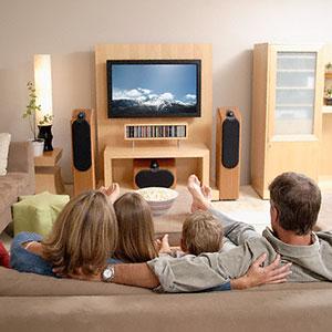 Image: Watching television (Corbis)