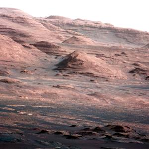 File photo by shows the base of Mount Sharp on Mars, taken on Aug. 23, 2012 (© NASA/JPL-Caltech/MSSS/AP)
