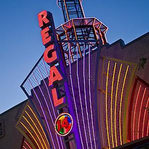 File photo of a Regal Cinemas marquee in Bossier City, Louisiana (© Richard T. Nowitz/Corbis)