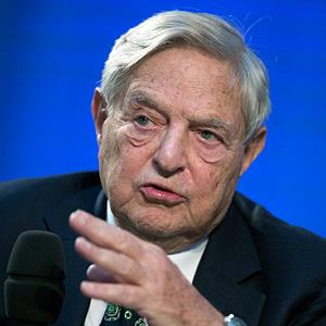 File photo of George Soros , chairman of Soros Fund Management, during a panel discussion at the Nicolas Berggruen Conference in Berlin, Germany on Oct. 30, 2012 ( Thomas Peter/AP)