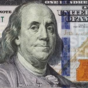Credit: Courtesy of the US Treasury&#10;Caption: Newly redesigned $100 note
