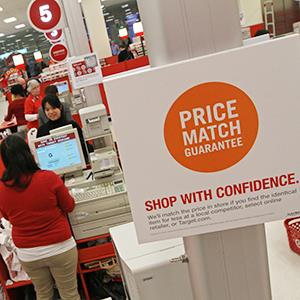 Price-match policy sign at a Target store in Minneapolis on January 8, 2013 (© Bruce Bisping/Minneapolis Star Tribune/ZUMA Press/Corbis)