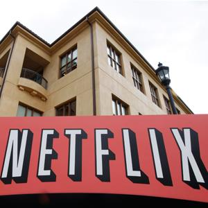 The exterior of Netflix headquarters is seen in Los Gatos, Calif