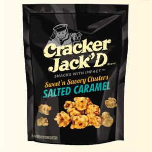 CRACKER JACK®'D Clusters Salted Caramel Flavored Popcorn Clusters (© FRITO-LAY NORTH AMERICA, INC.)