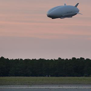 Northrop Grumman's Long Endurance Multi-Intelligence Vehicle (LEMV) during its first flight (© Northrop Grumman Corp.)