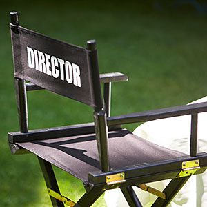 Director's chair © Chloe Johnson, Alamy
