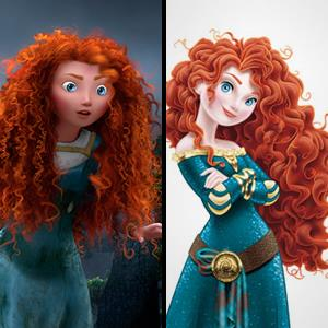 Image released by Disney/Pixar of Princess Merida in 