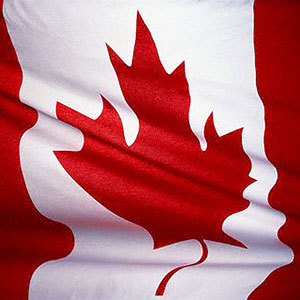 Canadian flag (© Royalty-Free/Corbis)