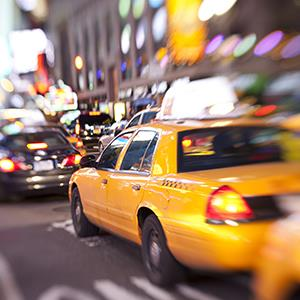 Taxicab in New York City (© Rouzes/E+/Getty Images)
