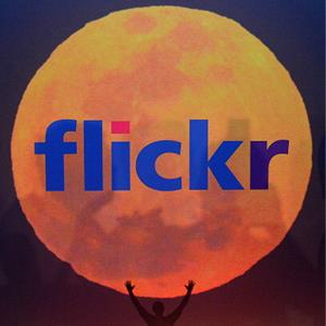 The Flickr website logo is displayed in New York, May 20, 2013 (© Emmanuel Dunand/AFP/Getty Images)