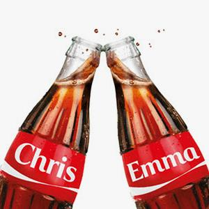 'Share a Coke' personalized bottles from Coca-Cola Great Britain's website (© The Coca-Cola Company)