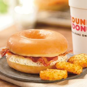Dunkin' Donuts 'Glazed Donut Breakfast Sandwich' (copyright Dunkin's Donuts)