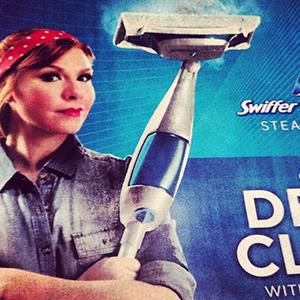 Swiffer's Rosie the Riveter ad that has since been pulled from the company's website (hbeschizza via Instagram, http://instagram.com/p/aD7wrDuJ3i/#)