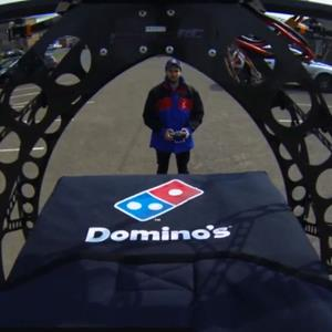 Video still of Domino's pizza drone (© Dominos Pizza via youtube.com/DominosUK1)