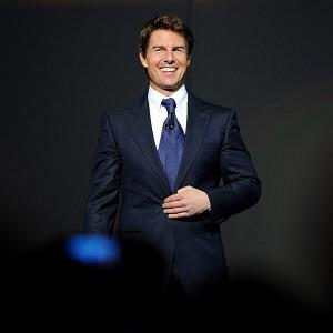 Tom Cruise speaks at the Wal-Mart Stores Inc. shareholders meeting in Fayetteville, Ark., on Friday (© Sarah Bentham/Bloomberg via Getty Images)