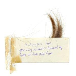 Lock of Mick Jagger's hair to be auctioned on July 3. (Courtesy of Bonhams)