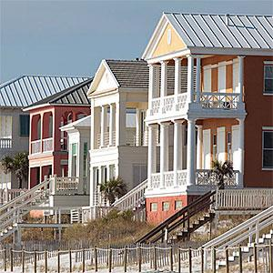 Beach homes near Panama City Beach, Fla. © Teila K. Day Photography, Alamy