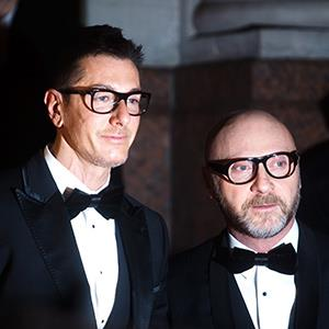 Designer Domenico Dolce (left) and Stefano Gabanna on March 18, 2011 (© REX Features)