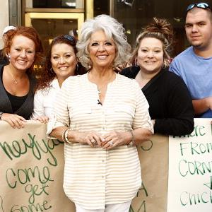 Paula Deen poses with fans in New York City on June 5, 2013 (© Peter Kramer/NBC/NBC NewsWire via Getty Images)