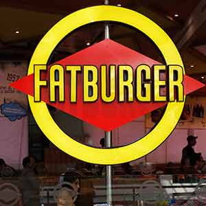 Fatburger signage is displayed at the company's outlet in Karachi, Pakistan (Asim Hafeez/Bloomberg via Getty Images)