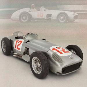 Mercedes-Benz W196 in which Juan Manuel Fangio won the second of his five World Drivers' Championships pictured in The Goodwood Festival of Speed Catalogue