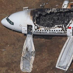 Credit: © JED JACOBSOHN/Newscom/RTRCaption: An Asiana Airlines Boeing 777 plane is seen after it crashed while landing at San Francisco International Airport in California, in this file aerial view taken July 6, 2013