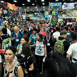 People walk through Comic-Con International 2013 at San Diego Convention Center on July 17, 2013 in San Diego, Calif. (© Jerod Harris/Getty Images)