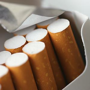 Pack of cigarettes (© Dan Brandenburg/Getty Images)