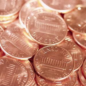 Pennies (© Corbis)