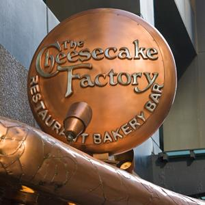 Cheesecake Factory restaurant sign in Chicago, Ill., on March 29, 2012 (© George Rose/Getty Images)