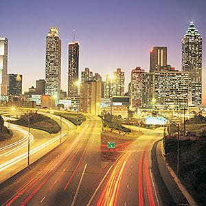 Time-lapse photo of Atlanta highways at night (© Travel Ink/Digital Vision/Getty Images)