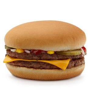 McDouble cheeseburger (Courtesy of McDonald's)