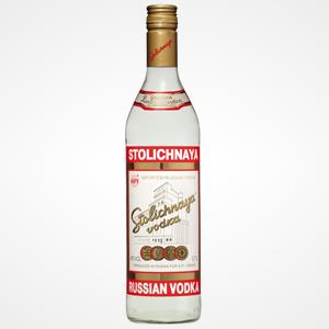 Bottle of Stolichnaya vodka (© Stolichnaya)