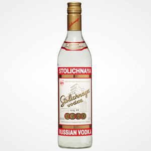 Bottle of Stolichnaya vodka (© Stolichnaya)