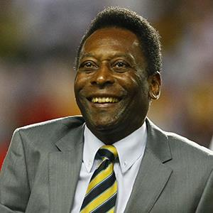 File photo of former Brazilian soccer player Pele on Feb. 8, 2012 (© Francois Mori/AP Photo)