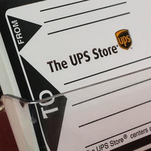UPS shipping labels at a UPS Store Los Angeles, on January 31, 2012 (© Damian Dovarganes/AP)