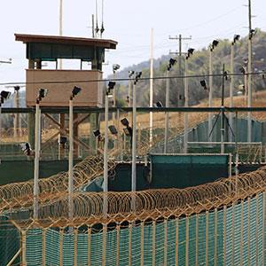 The exterior of Camp Delta is seen at the U.S. Naval Base at Guantanamo Bay. (© Bob Strong/Reuters)