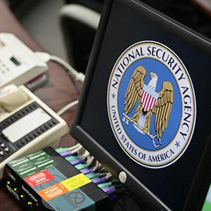 The National Security Agency logo is shown on a computer screen at the NSA in Fort Meade, Maryland on January 25, 2006 (© Brooks Kraft/Corbis)