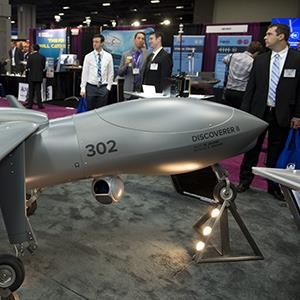 A photo from the convention of the Association for Unmanned Vehicle Systems International. Credit: