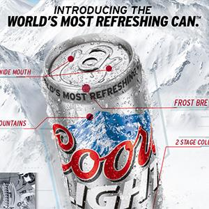 Coors Light can © Coors Brewing Company