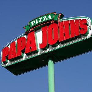 A Papa John's sign. Credit:© Hyoung Chang / The Denver Post