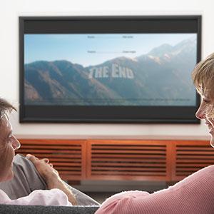 Watching television (© image100/Corbis)