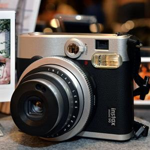 Fujifilm's Instax mini 90 Neo Classic camera (© Yoshikazu Tsuno/AFP/Getty Images)
