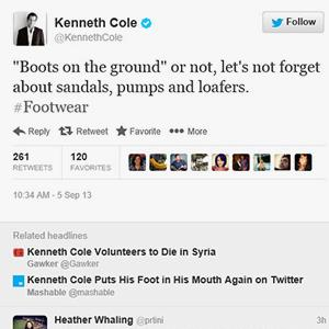 Kenneth Cole tweet (@Kenneth Cole via Twitter)