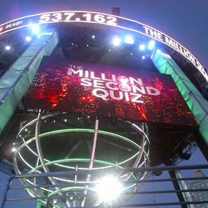 Million Second Quiz set in New York City on September 7, 2013 (The Million Second Quiz via YouTube)