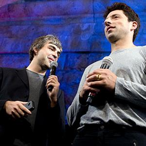 Larry Page, left, and Sergey Brin, co-founders of Google Inc. (© Jb Reed/Bloomberg via Getty Images)