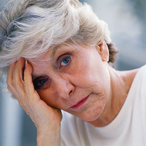 Worried woman (© Thinkstock Images/Jupiterimages)