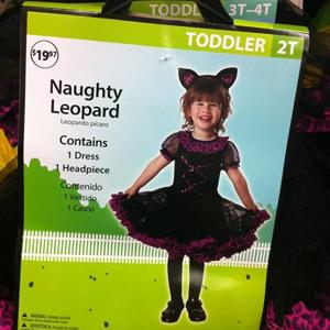 Walmart 'Naughty Leopard' Halloween costume (© Danita Harris – WEWS via Facebook)