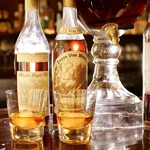 File photo of Pappy Van Winkle bourbon, center, at Cyrus restaurant in Healdsburg, Calif. (© Craig Lee/San Francisco Chronicle/Corbis)
